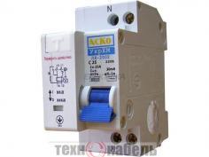 Дифференциальный автоматический выключатель ДВ-2002