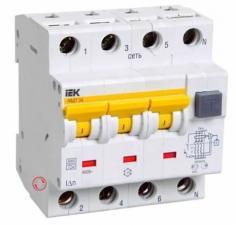 Автоматический выключатель дифференциального тока АВДТ34